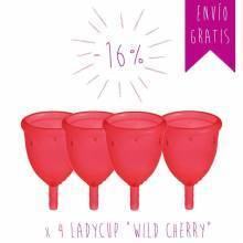 """Pack 4 Ladycup """"Wild Cherry"""""""