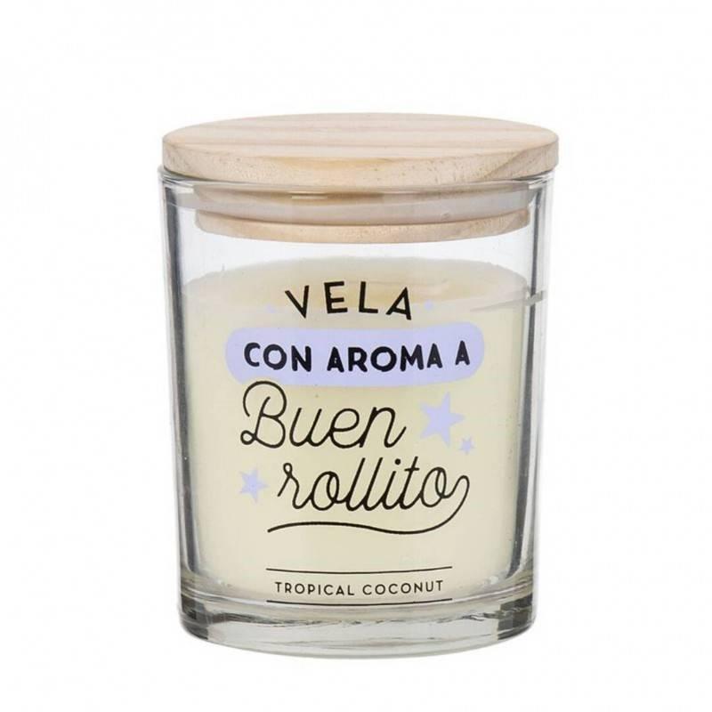 Vela con aroma a Buen rollito