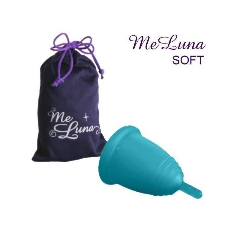 Copa menstrual MeLuna Azul, Soft, Pezón
