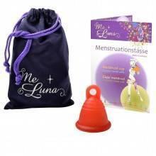 Pack copa menstrual MeLuna Shorty Roja, Classic, Anillo + Esterilizador para copa menstrual + Neceser vive la vida