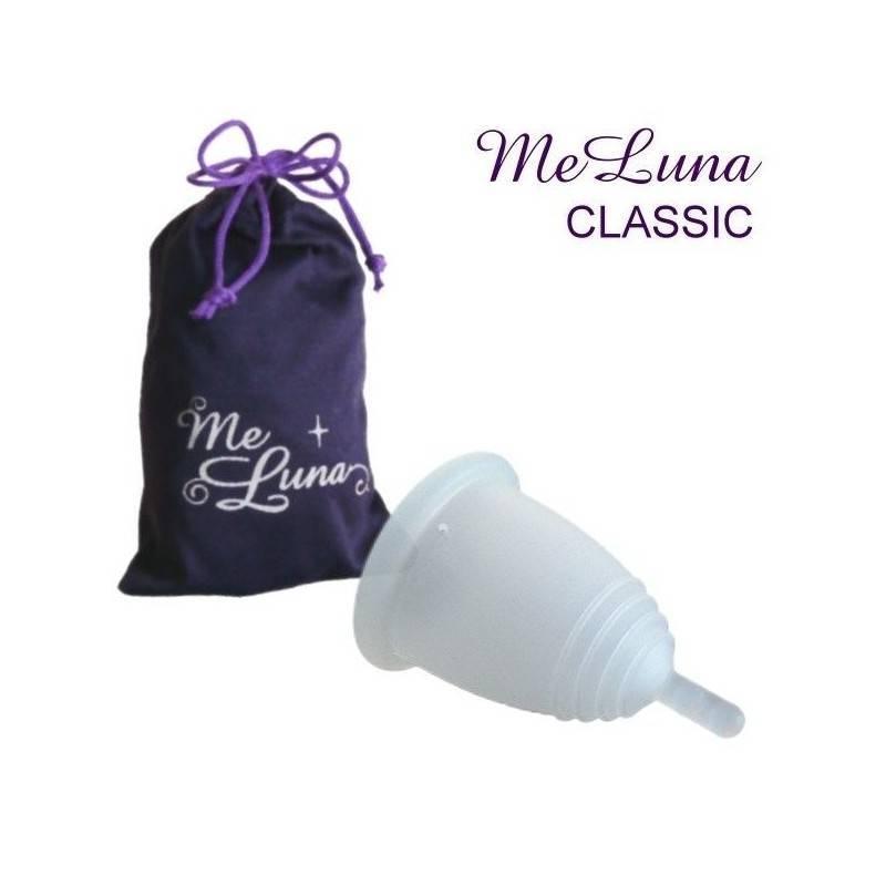 Copa menstrual MeLuna Transparente, Classic, Pezón