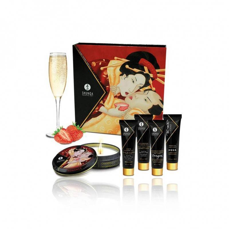 Kit Secret Geisha Fresa Champagne, Shunga