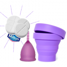 Pack Lunette con esterilizador plegable Mimaclean y pastillas GRATIS