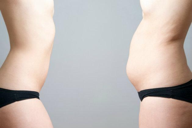 Aumentar de peso durante la menstruación