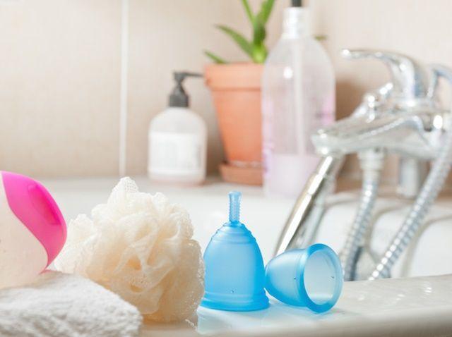 Comparativa entre copa menstrual, esponja vaginal y tampón