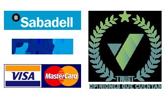 métodos de pago tarjeta de crédito y sello confianza Trustivity